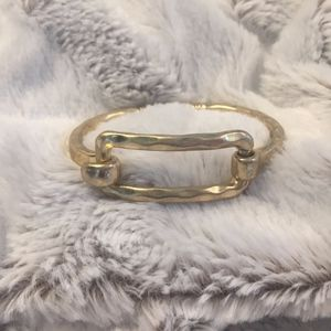 Jewelry - Gold Hammered Metal Bracelet